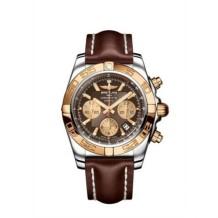 Chronomat 44 Stainless Steel / Rose Gold / Amber / Calf