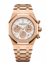 Royal Oak Chronograph 38 Pink Gold / Silver