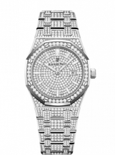 Royal Oak 33 Quartz White Gold / Diamond / Silver / Bracelet