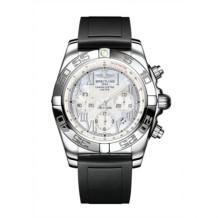 Chronomat 44 Stainless Steel / Pearl Roman / Rubber