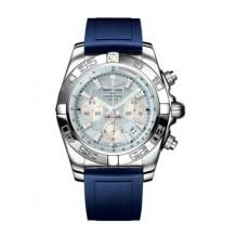 Chronomat 44 Stainless Steel / Gray Pearl Diamond / Rubber