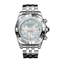 Chronomat 44 Stainless Steel / Gray Pearl Diamond / Bracelet