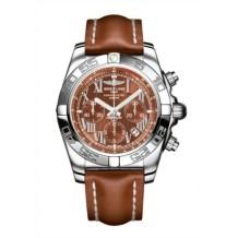 Chronomat 44 Stainless Steel / Amber / Calf