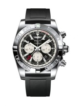 Chronomat 47 GMT Stainless Steel / Onyx Black / Rubber