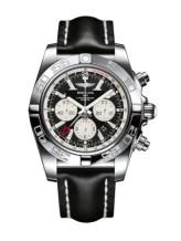 Chronomat 47 GMT Stainless Steel / Onyx Black / Calf