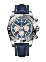 Chronomat 47 GMT Stainless Steel / Metallica Blue / Calf