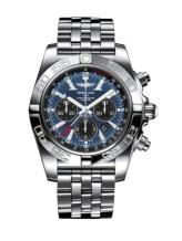 Chronomat 47 GMT Stainless Steel / Blackeye Blue