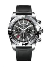 Chronomat 47 GMT Stainless Steel / Blackeye Gray / Rubber