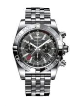 Chronomat 47 GMT Stainless Steel / Blackeye Gray / Bracelet