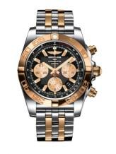 Chronomat 44 Stainless Steel / Rose Gold / Onyx Black / Bracelet