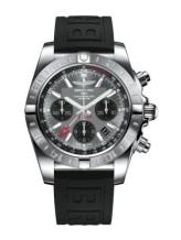 Chronomat 44 GMT Stainless Steel / Blackeye Grey / Rubber