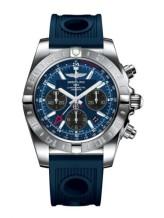 Chronomat 44 GMT Stainless Steel / Blackeye Blue / Rubber