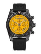 Chronomat 44 Blacksteel Diamondworks / Yellow / Rubber