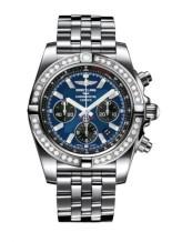 Chronomat 44 Stainless Steel / Diamond / Blackeye Blue / Bracelet