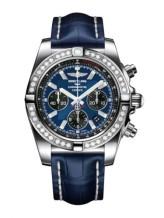 Chronomat 44 Stainless Steel / Diamond / Blackeye Blue / Croco
