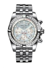 Chronomat 44 Stainless Steel / Diamond / Gray Pearl / Bracelet