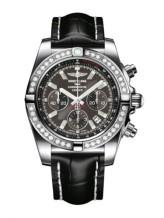 Chronomat 44 Stainless Steel / Diamond / Carbon Black / Croco