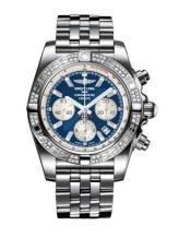 Chronomat 44 Stainless Steel / Diamond / Metallica Blue / Bracelet