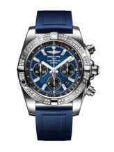 Chronomat 44 Stainless Steel / Diamond / Blackeye Blue / Rubber