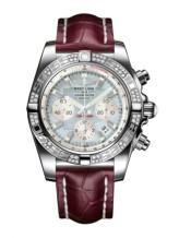 Chronomat 44 Stainless Steel / Diamond / Gray Pearl / Croco