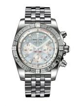 Chronomat 44 White Gold / Diamond / Gray Pearl / Bracelet