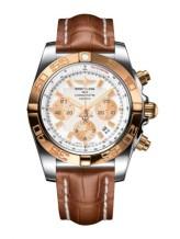 Chronomat 44 Stainless Steel / Rose Gold / Antarctica White / Croco