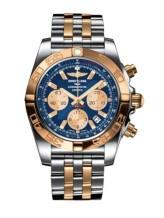 Chronomat 44 Stainless Steel / Rose Gold / Metallica Blue / Bracelet