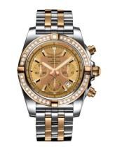 Chronomat 44 Stainless Steel / Rose Gold / Golden Sun Diamond / Bracelet