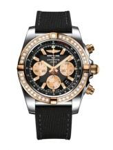 Chronomat 44 Stainless Steel / Rose Gold / Diamond / Onyx Black / Military