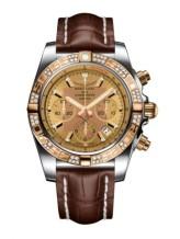 Chronomat 44 Stainless Steel / Rose Gold / Golden Sun Diamond / Croco