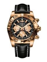 Chronomat 44 Rose Gold / Onyx Black / Croco