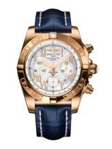 Chronomat 44 Rose Gold / Pearl Roman / Croco