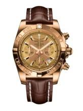 Chronomat 44 Rose Gold / Golden Sun / Croco