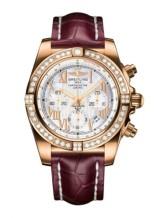 Chronomat 44 Rose Gold / Diamond / Pearl Roman / Croco