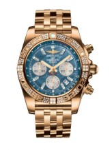Chronomat 44 Rose Gold / Diamond / Black Pearl Diamond / Bracelet
