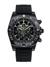 Chronomat 44 Blacksteel / Breitling Jet Team / Rubber