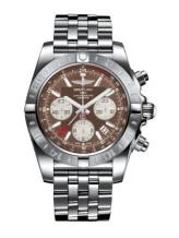 Chronomat 44 GMT Stainless Steel / Metallica Brown / Bracelet