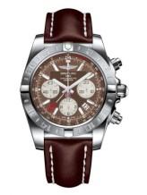Chronomat 44 GMT Stainless Steel / Metallica Brown / Calf