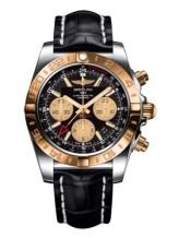 Chronomat 44 GMT Stainless Steel / Rose Gold / Onyx Black / Croco