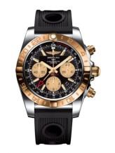 Chronomat 44 GMT Stainless Steel / Rose Gold / Onyx Black / Rubber