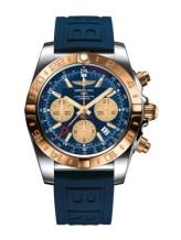 Chronomat 44 GMT Stainless Steel / Rose Gold / Metallica Blue / Rubber