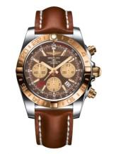 Chronomat 44 GMT Stainless Steel / Rose Gold / Metallica Brown / Calf