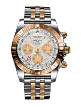 Chronomat 44 GMT Stainless Steel / Rose Gold / Pearl / Bracelet