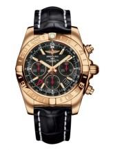 Chronomat 44 GMT Rose Gold / Black / Croco