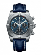 Chronomat B01 Chronograph 44 Stainless Steel / Blackeye Blue / Blue Croco