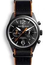 BR 126 Carbon Orange Chronograph
