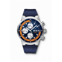 Aquatimer Chronograph Stainless Steel / Blue / Rubber / Cousteau Divers 2007