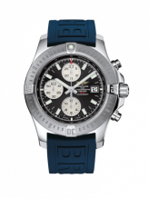 Colt Chronograph Automatic Stainless Steel / Volcano Black / Rubber / Pin