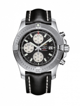 Colt Chronograph Automatic Stainless Steel / Volcano Black / Calf / Folding