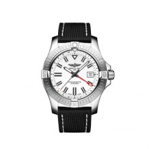Avenger Automatic GMT 43 Stainless Steel / White / Calf / Pin